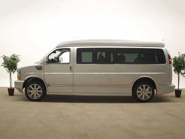 Sheer silver Hightop ' Extended' van w/ grey interior